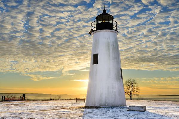 Sunset at Turkey Point Lighthouse