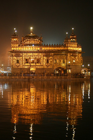 Holy Temple of the Sikh religion, Golden Temple of Amritsar, India.
