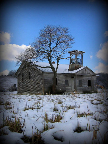 Winter at the old School House, Boyds Creek.