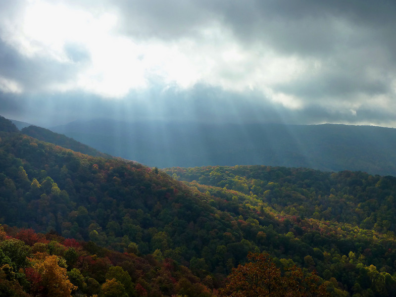 Sun breaking through....Cherohala Skyway