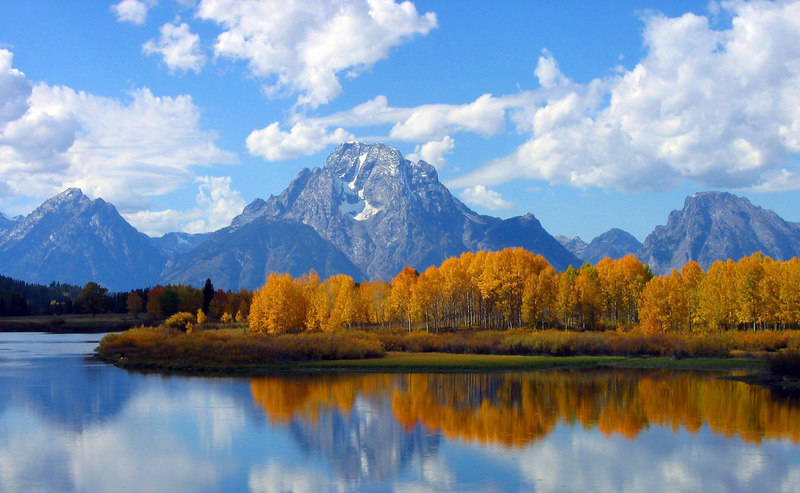 Mt. Moran from Oxbow Bend, Grand Tetons N.P.