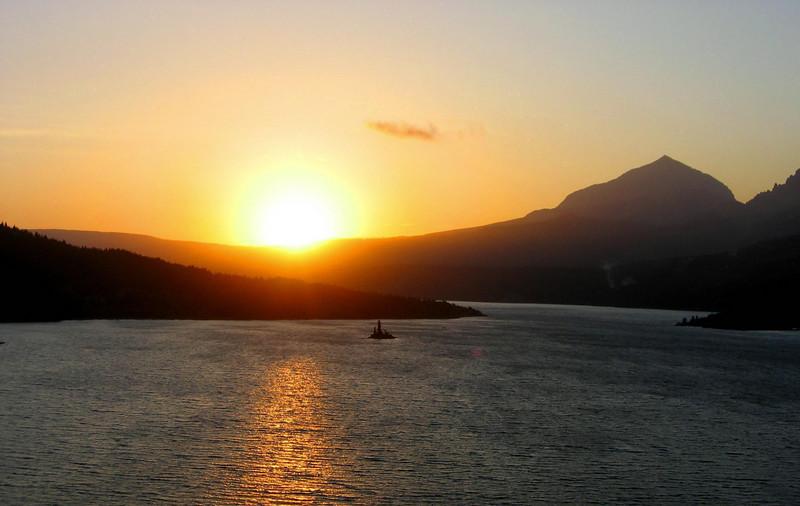 Sunrise on St. Mary Lake, Glacier N.P.