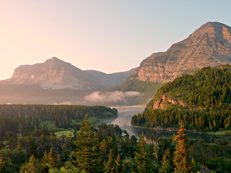 View from just outside Many Glacier, Glacier National Park.