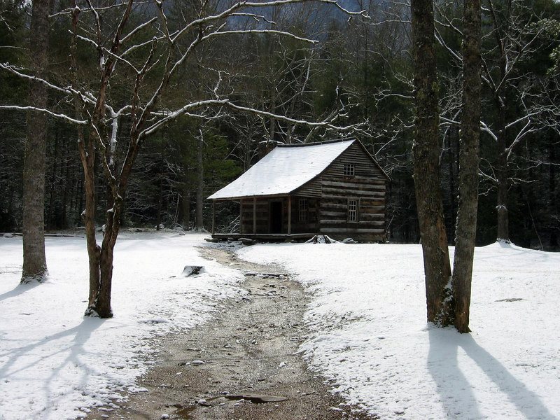 Cabin in the woods, Smoky Mountains N.P.