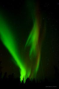Poker Flat's research Lidar, aurora.