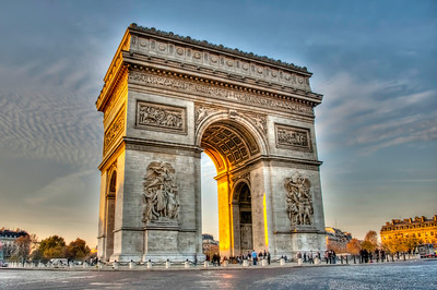 Sunset at Arc de Triumph Paris, France