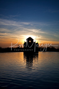 Project 365 #039  Sunset fell behind the Louisville Water Company Reservoir