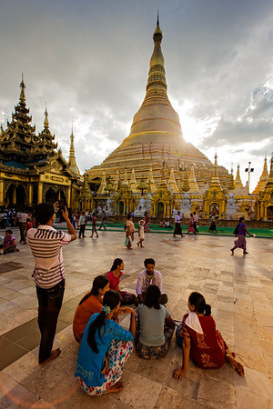 Social Life around the Shwedagon Pagoda
