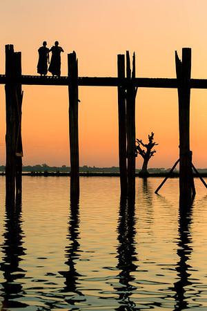 Reflections of the U Bein Bridge