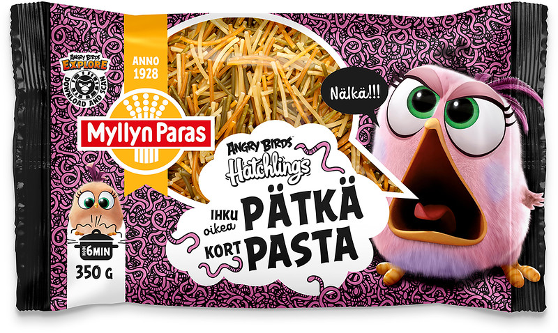 5801699 MYLLYN PARAS Angry Birds Lühike pasta 350g 6417700056550
