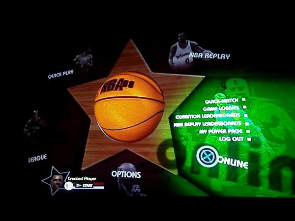PS3 NBA 08 Menus