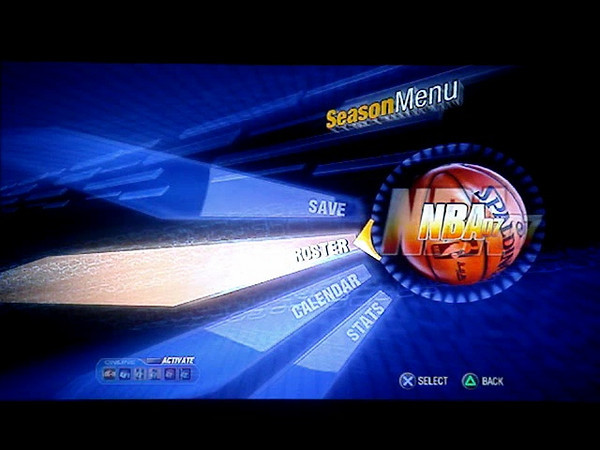 PS3 NBA 07 Menus