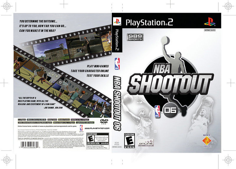 Package concept for NBA Shootout 2006.
