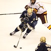 Left Wing Anders Lee (2) Center Brady Lamb (2) in the first period of  the NCAA Frozen Four between the University of University of Minnesota Bulldogs and the Notre Dame Fighting Irish at the Xcel Energy Center St, Paul, MN. UMD leads Notre Dame 3-2 after the first period of play.