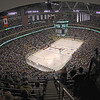The Xcel Energy Center in St. Paul MN was the site of the 2011 NCAA Frozen Four that featured the two teams in the finals University of Minnesota Duluth Bulldogs and the University of Michigan Wolverines, as well as the University of North Dakota and the University of Notre Dame Fighting Irish.