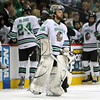 University of North Dakota Fighting Sioux goalie Aaron Dell (32) prepares for the final minutes in third period of the NCAA Frozen Four between the University of Michigan Wolverines and the University of Minnesota Fighting Sioux at the Xcel Energy Center St, Paul, MN. Michigan wins the game 2-0 to advance to the championship game.