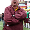 University of Minnesota Gopher head coach Jerry Kill following the University of Minnesota inter-squad Spring game  at the TCF Stadium in Minneapolis, MN.