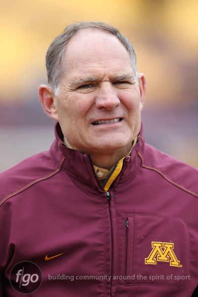 University of Minnesota Gopher athletic director Joel Maturi at the University of Minnesota inter-squad Spring game at the TCF Stadium in Minneapolis, MN.  (score).