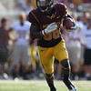 University of Minnesota Gophers wide receiver Malcolm Moulton (86) rushes the ball in the fourth quarter of a football game between New Mexico State versus University of Minnesota  game at TCF Stadium in Minneapolis, Minnesota. It was 14-7 at the half and New Mexico State went on to win the game 28-21.