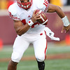 University of Wisconsin Badgers quarterback Russell Wilson (16) had 7 rushes for 18 net yards in the football game against the University of Minnesota Gophers at TCF Stadium in Minneapolis, MN.  The Badgers won the game 42-13.
