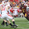 University of Minnesota Gophers quarterback MarQueis Gray (5) rushes the ball in the football game against the University of Wisconsin Badgers at TCF Stadium in Minneapolis, MN.  The Badgers won the game 42-13.