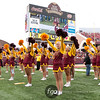 University of Minnesota Gophers cheerleaders root on their team in the football game against the University of Wisconsin Badgers at TCF Stadium in Minneapolis, MN.  The Badgers won the game 42-13.