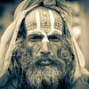 KATHMANDU. BABA (SADHU - HOLY MAN) DURBAR SQUARE. NEPAL.