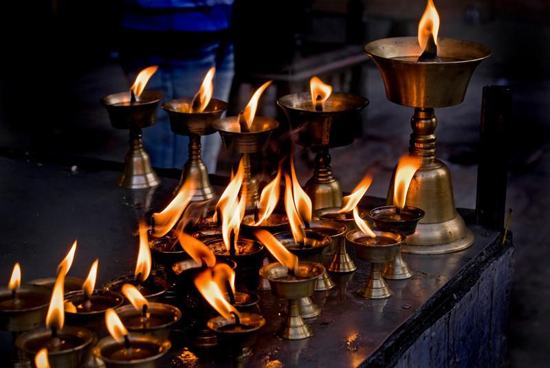 BUTTER LAMPS. KATHMANDU. NEPAL.