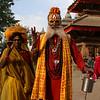 HOLY MAN & WOMAN. DURBAR SQUARE. KATHMANDU.