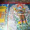 ENTRANCE OF BUDDHIST MONASTERY TSAMCHEN GOMPA. BODNATH. KATHMANDU. NEPAL.