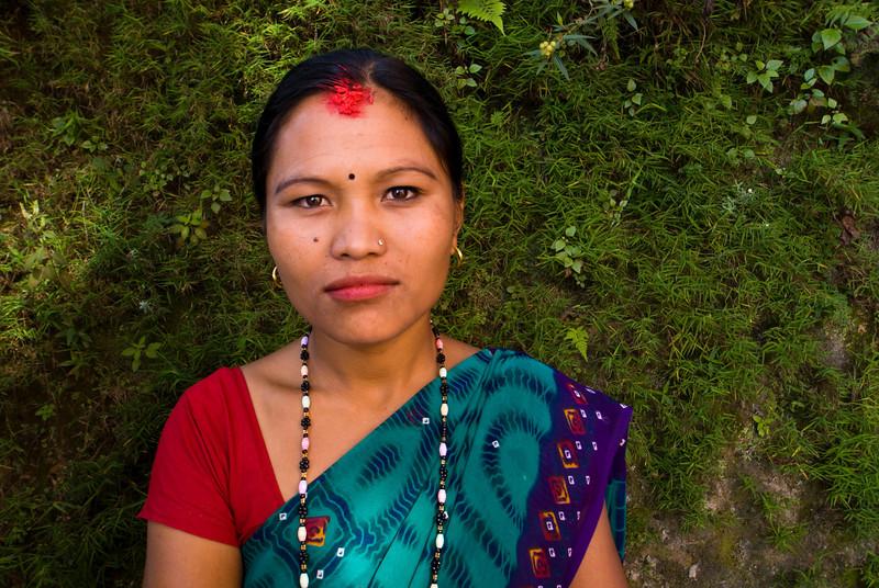NEPALESE GIRL. DHULIKHEL. KATHMANDU VALLEY. NEPAL.