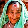 SMILING OLD LADY. DHULIKHEL. KATHMANDU VALLEY. NEPAL.
