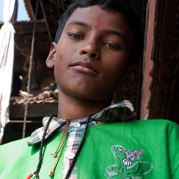 NEPALESE BOY. GORKHA. NEPAL.
