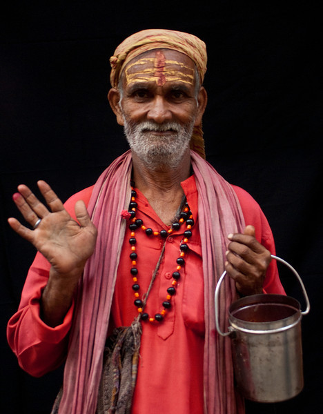 Sadhu in the old center of Kathmandu (Nepal)