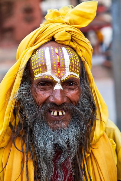 KATHMANDU. BABA (SADHU - HOLY MAN) DURBAR SQUARE. NEPAL. [3]