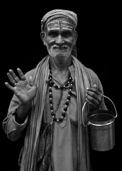 SADHU. OLD CENTER OF KATHMANDU. NEPAL.