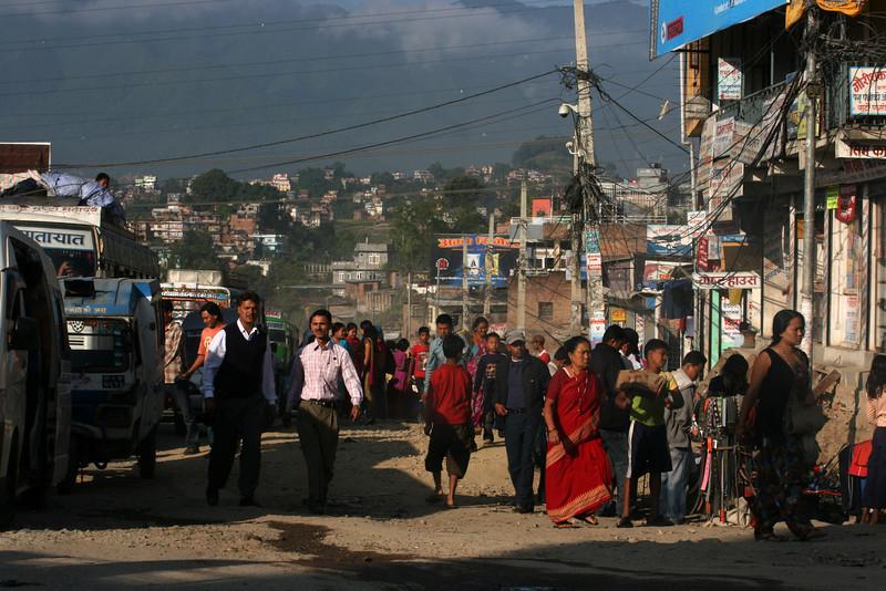 STREET LIFE IN THE MORNING. KATHMANDU. NEPAL.