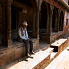 ON THE WAY TO POTTER'S SQUARE. BHAKTAPUR. KATHMANDU VALLEY. NEPAL.