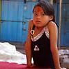 PORTRAIT OF A NEPALESE GIRL IN KATHMANDU. NEPAL.