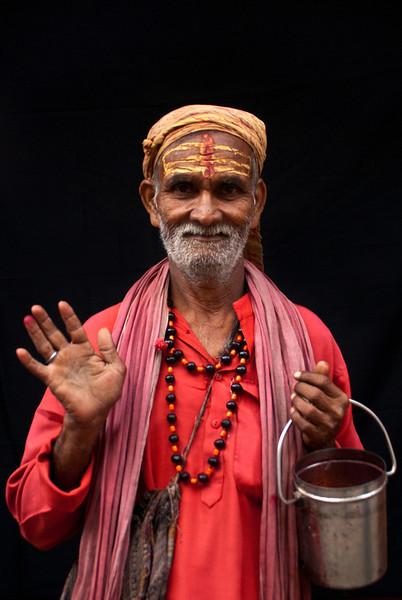 SADHU. OLD CENTER OF KATHMANDU. NEPAL. [2]
