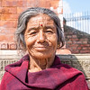 DHULIKHEL. PORTRAIT OF AN OLD LADY.