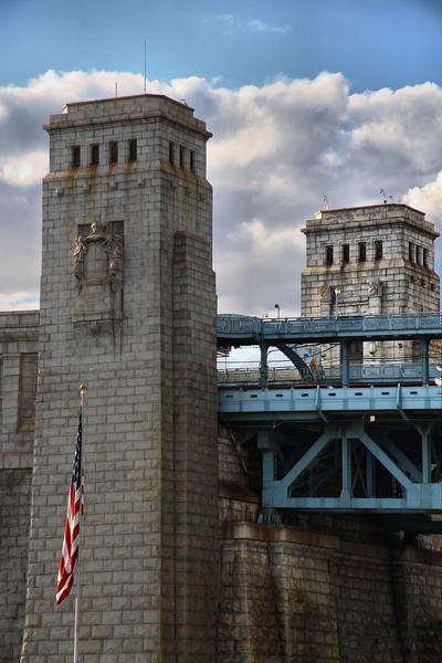 IMG#0602<br /> Ben Franklin Bridge as seen from Campbell Field-Camden New Jersey