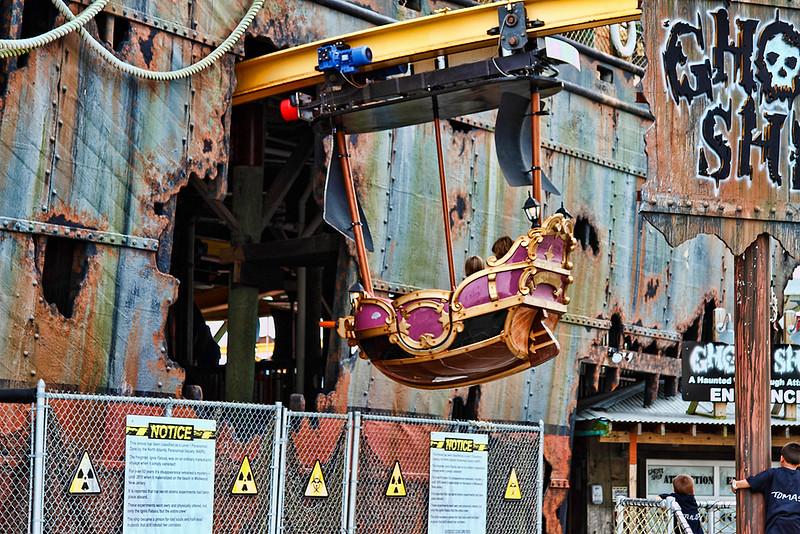 """Ghost Ship"" amusement ride at the Wildwood amusement park on the boardwalk...Wildwood, New Jersey-June 08, 2014"