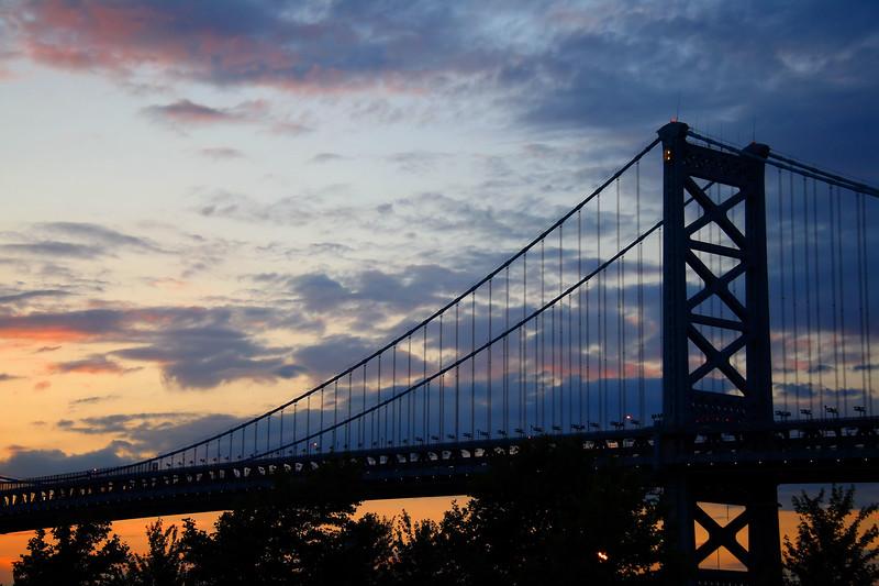IMG#0730<br /> Ben Franklin Bridge at Sunset