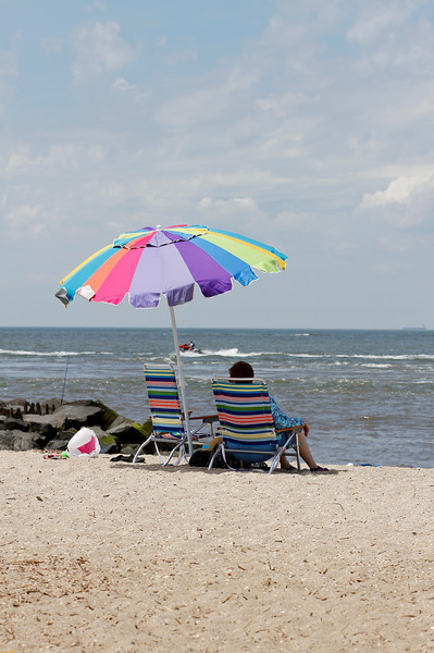 Waiting for the grandson...Cape May Lighthouse beach, Cape May, NJ