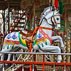 Merry-go-round character horse...Wildwood boardwalk amusement park, Wildwood, New Jersey-June 08, 2014