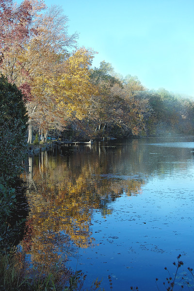 IMG#3168<br /> Fog rolls out...Malaga Lake, New Jersey-Fall 2008