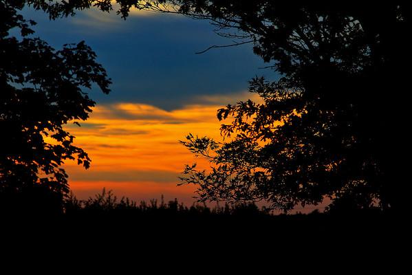 Deerfield New Jersey Sunset.