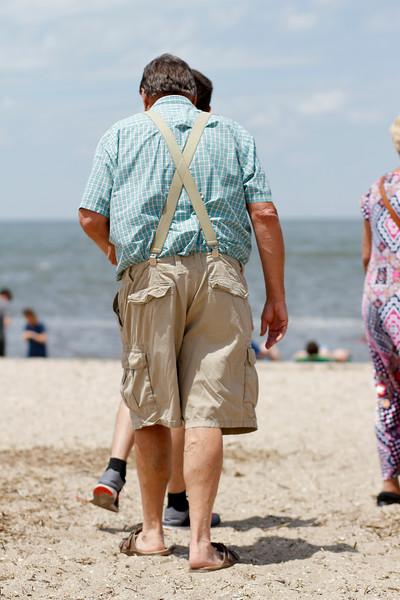 Grandpa at the beach...Cape May Lighthouse beach, Cape May, NJ