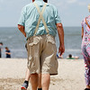 Grandpa at the beach...Cape May Lighthouse beach, Cape May, NJ